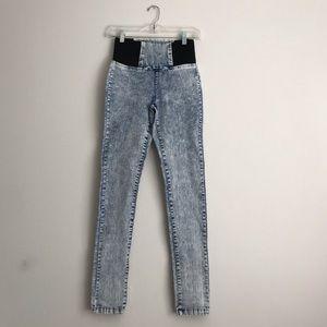 Boom Boom Jeans Jeggings Acid Wash Blue Black S